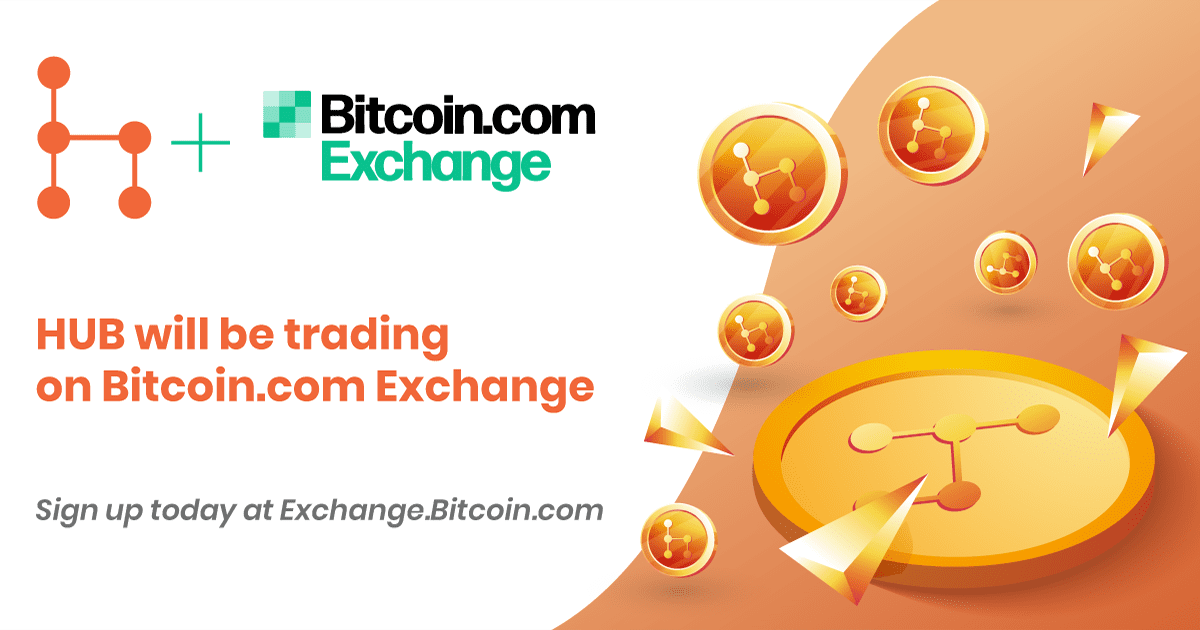 Bitcoin.com Exchange To List HUB Token as the Next Gen Trust-Based Cryptocurrency