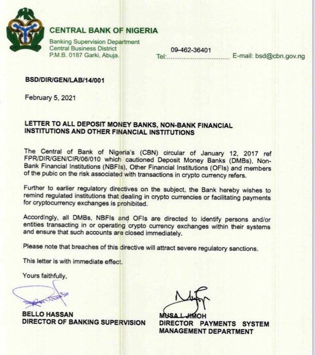 CBNはナイジェリアでの暗号通貨交換を禁止します|誰もがニュースにどのように反応しているかを見る