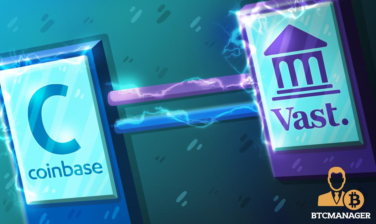 広大な銀行とコインベースのパートナーシップにより、銀行はエンドツーエンドの暗号取引を完了します