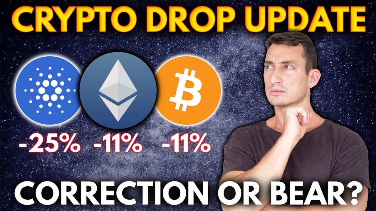 CRYPTO DROP UPDATE! Crypto News & Price Charts: Cardano ADA, Ethereum ETH, Bitcoin BTC
